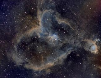 IC1805, Heart Nebula (SHO)