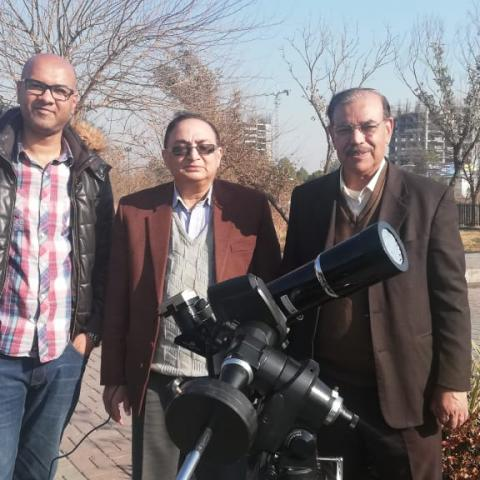 Left to right: Ahmed Rizwan Khan, Dr Farrukh Shahzad, Saif Ul Islam Qureshi