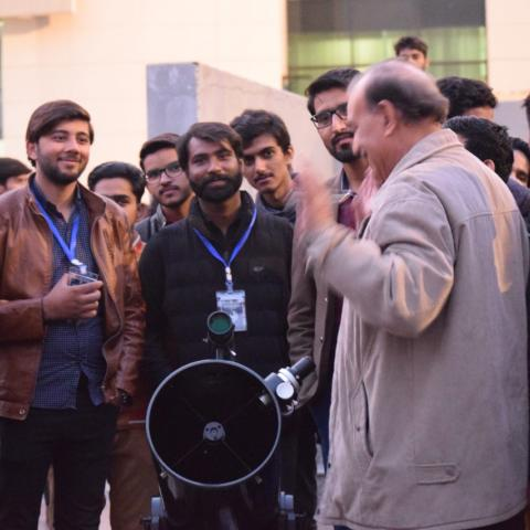 Saif Ul Islam sb talking to students